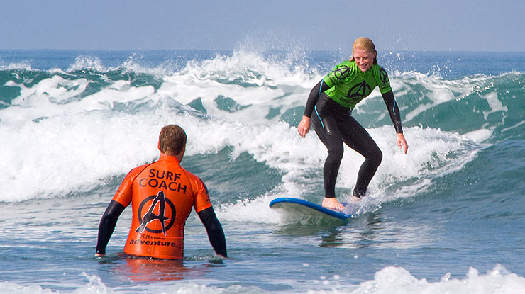 Surfing Lessons at Bude