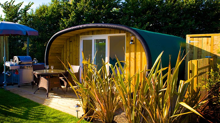 Why not go 'glamping' in Cornwall this year at Atlantic Surf Pods in Bude, Cornwall?