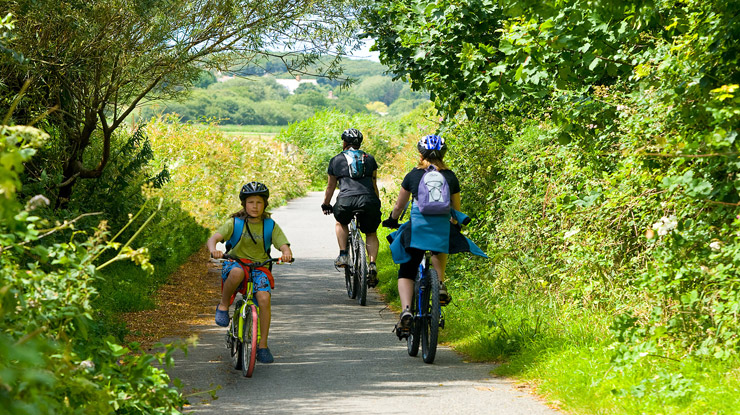 Bude cycle path and bike hire