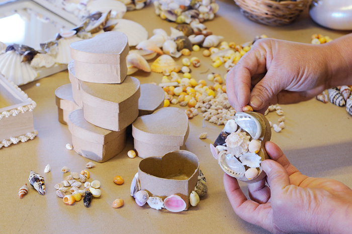 Shell box making